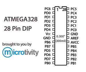 Microtivity: pack of 1 atmega328 8-bit avr microcontroller w.