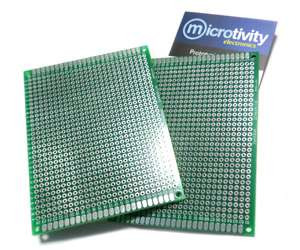 6x8cm, Pack of 5 microtivity IM416 Double-sided Prototyping Board