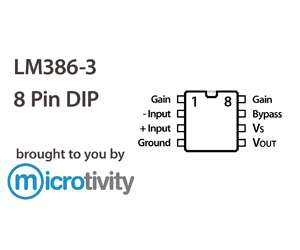 microtivity: Pack of 1 LM386-3 Low Voltage Audio Power