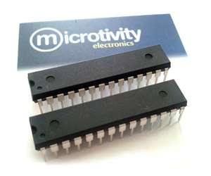 Pack of 2 ATmega328 8-bit AVR Microcontrollers w/ 32KBytes ISP Flash