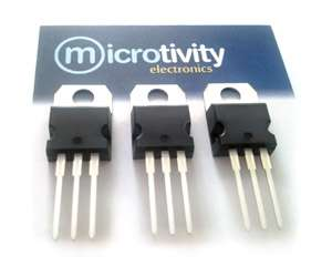 Pack of 3 78xx Assorted Linear Voltage Regulator ICs